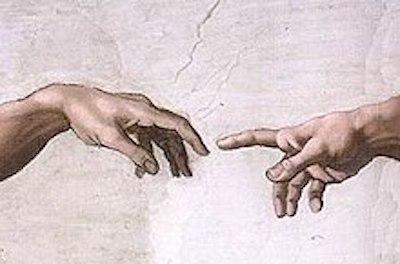 アダムと神の指先