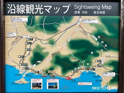 沿線観光マップ